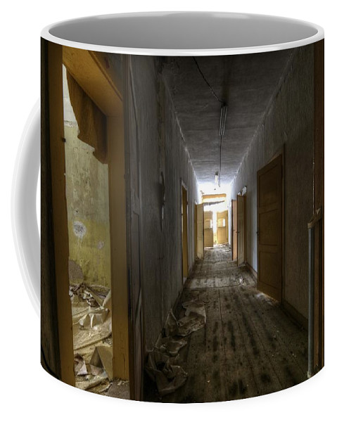 Old Coffee Mug featuring the digital art The Doors by Nathan Wright