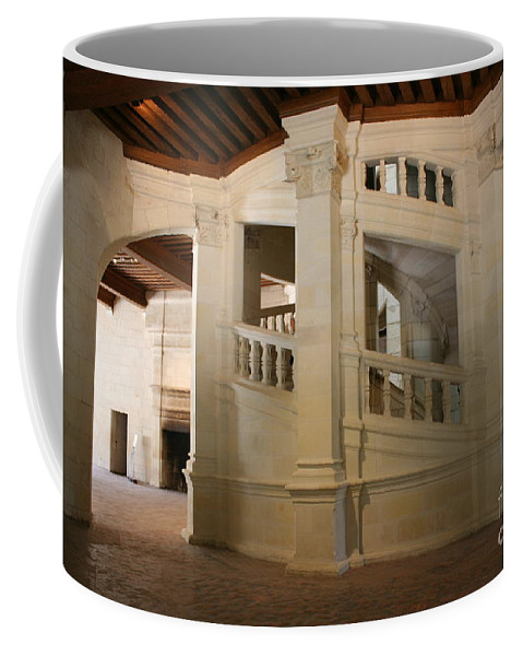 Staircase Coffee Mug featuring the photograph The Double-helix Staircase Chateau Chambord - France by Christiane Schulze Art And Photography