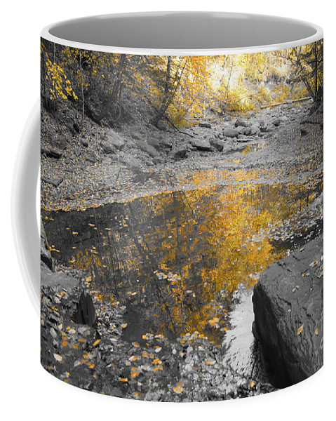 Black And White Coffee Mug featuring the photograph The Dry Creek Bed by Jeffery L Bowers