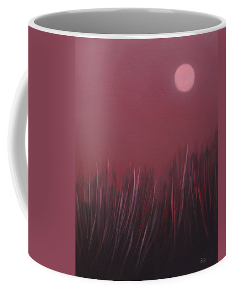 Landscape Coffee Mug featuring the painting The dusk by Sergey Bezhinets