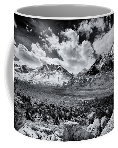 Black Coffee Mug featuring the photograph The Eastern Sierra by Cat Connor