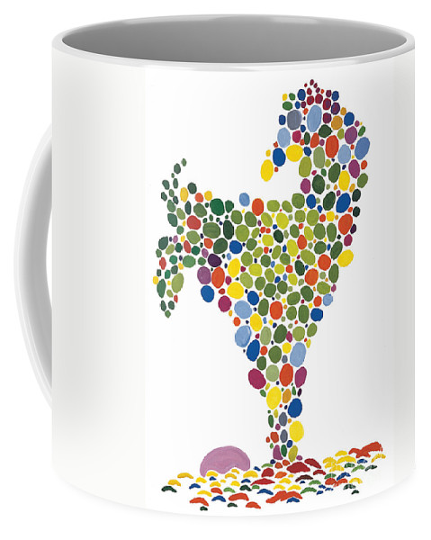 Contemporary Coffee Mug featuring the painting The Egg by Bjorn Sjogren