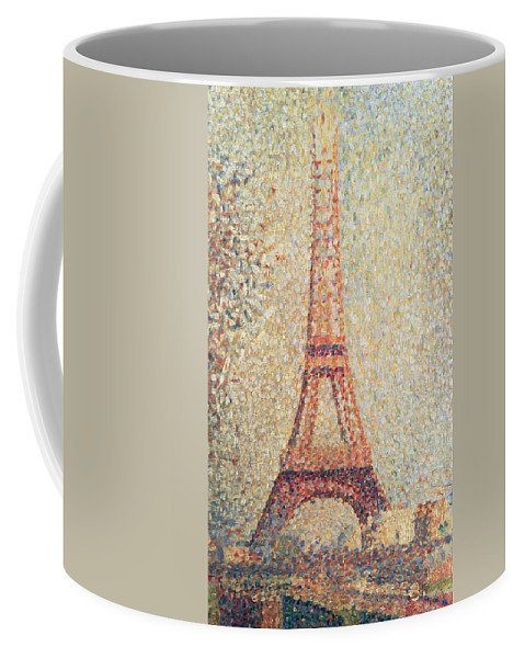 Tour; Pointillist; Neo; Impressionist; Paris Coffee Mug featuring the painting The Eiffel Tower by Georges Pierre Seurat
