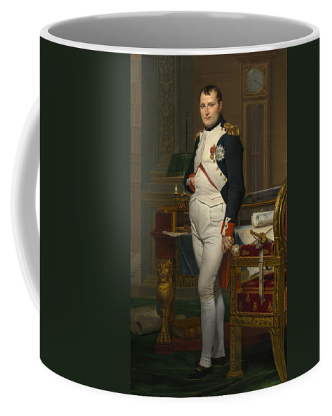 Art Coffee Mug featuring the painting The Emperor Napoleon In His Study by Mountain Dreams