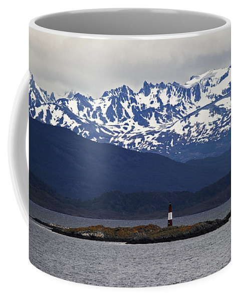 Festblues Coffee Mug featuring the photograph The End Of The World... by Nina Stavlund