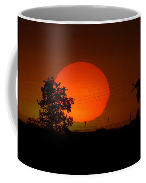 Sunset Coffee Mug featuring the photograph The End To A Hot Day by Shannon Story