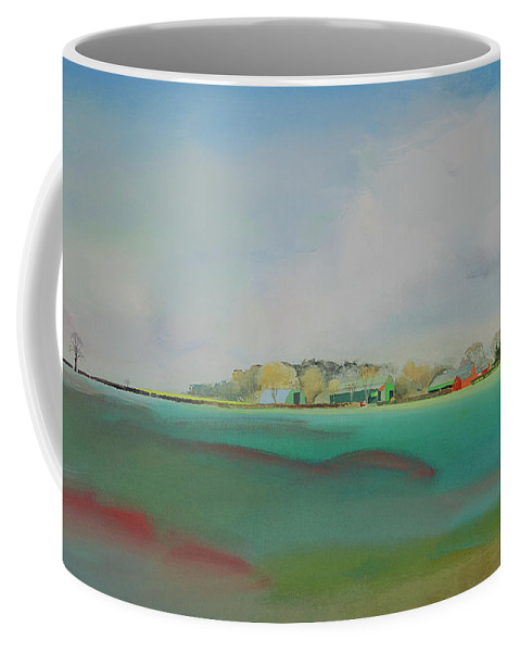 Landscape Coffee Mug featuring the painting The English Farm  A Break In The Cloud by Charles Stuart