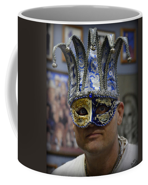 Mask Coffee Mug featuring the photograph The Eyes Behind by Ally White