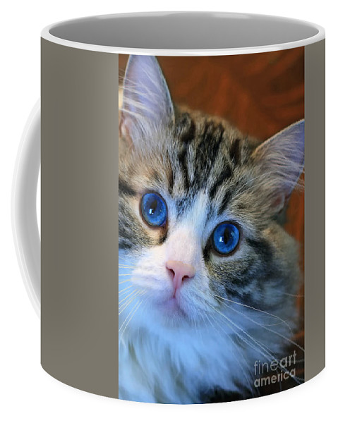 Cats Coffee Mug featuring the photograph The Eyes Have It by Geoff Crego