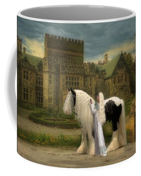 Horses Coffee Mug featuring the digital art The Fairest Of Them All by Fran J Scott