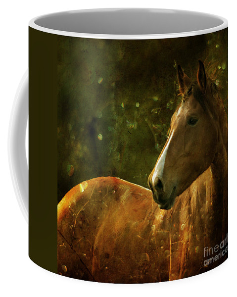 Horse Coffee Mug featuring the photograph The Fairytale Horse by Angel Tarantella