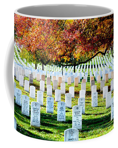 Arlington Cemetery Coffee Mug featuring the photograph The Fall by Greg Fortier