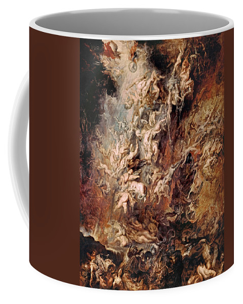 Peter Paul Rubens Coffee Mug featuring the painting The Fall Of The Damned by Peter Paul Rubens