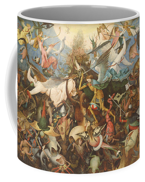 Monsters Coffee Mug featuring the photograph The Fall Of The Rebel Angels, 1562 Oil On Panel by Pieter the Elder Bruegel