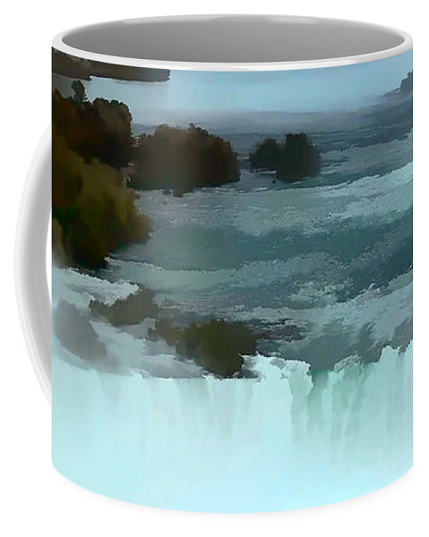 Niagara Falls Photo Coffee Mug featuring the photograph The Falls-oil Effect Image by Tom Prendergast
