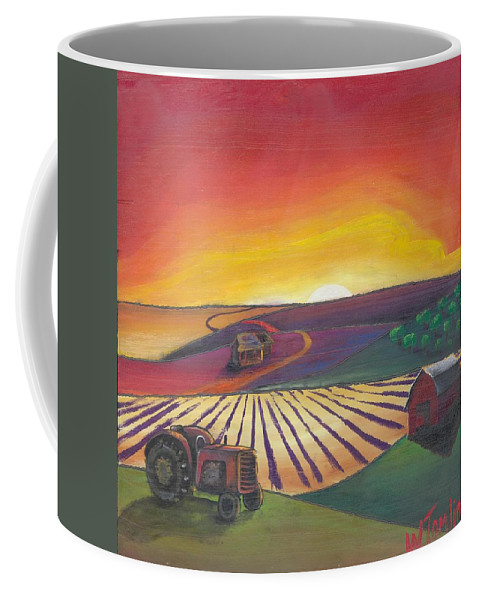 Farm Coffee Mug featuring the painting 'the Farm' by Whitney Tomlin