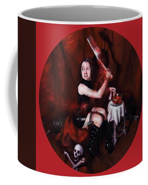 Shelley Irish Coffee Mug featuring the painting The Fearful by Shelley Irish