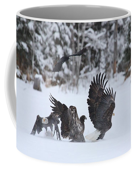 Bald Eagle Coffee Mug featuring the photograph The Finale by Teresa McGill