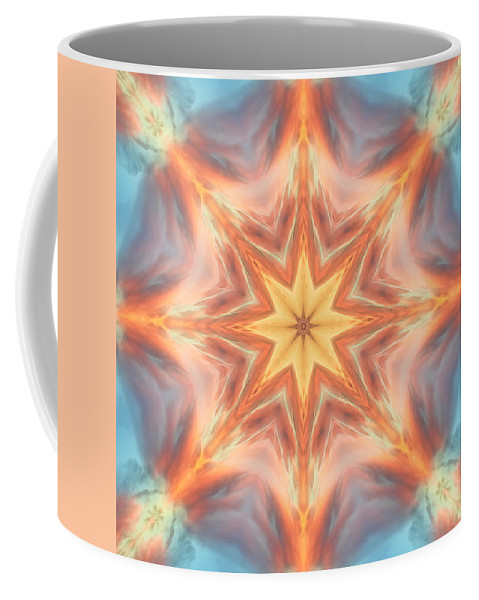 Mandala Coffee Mug featuring the digital art The Fire From Within Mandala by Beth Sawickie