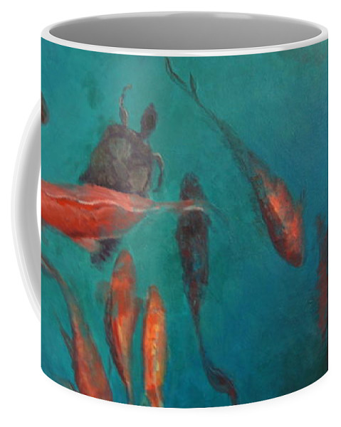 Fish Coffee Mug featuring the painting the Fish of Cabo by Terri Messinger