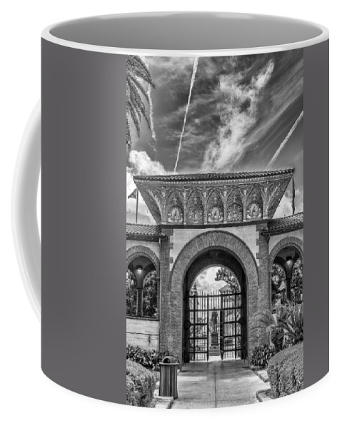 St. Augustine Coffee Mug featuring the photograph The Flagler College Entrance by Howard Salmon