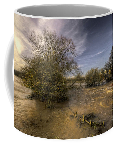 Stoke Canon Coffee Mug featuring the photograph The Floods At Stoke Canon by Rob Hawkins