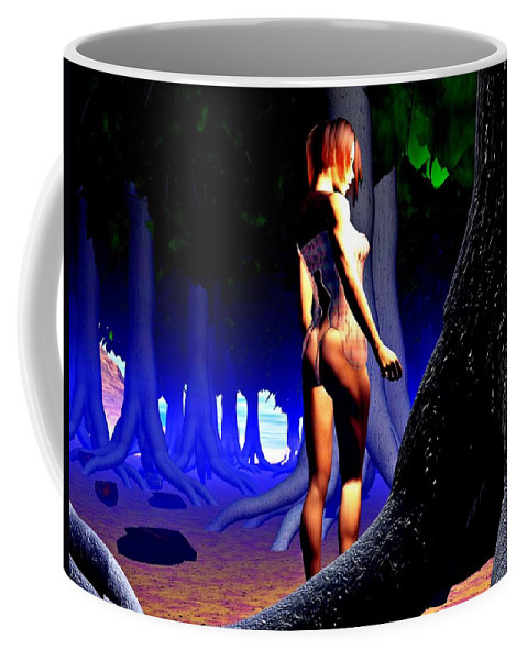 Babe Coffee Mug featuring the digital art The Forbidden Forest by Charles McChesney