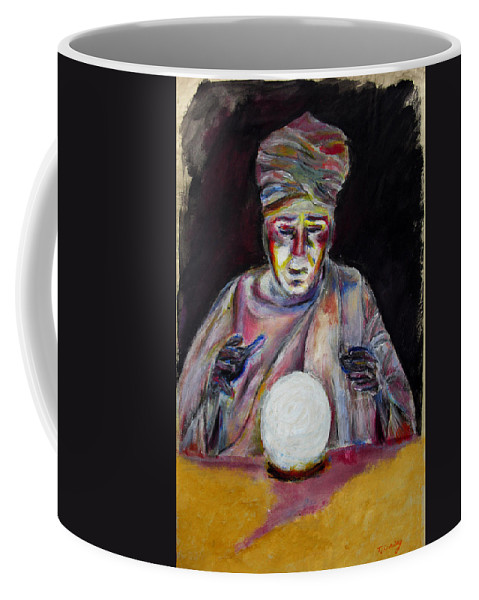 Fortune Tellers Coffee Mug featuring the painting The Fortune Teller by Tom Conway
