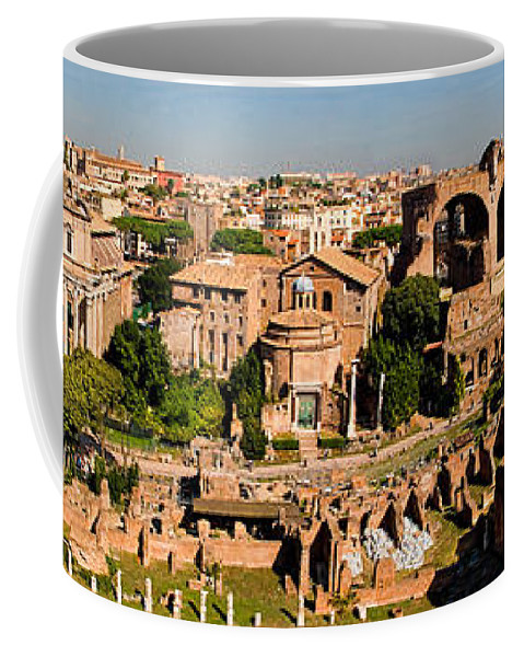 Roman Forum Coffee Mug featuring the photograph The Forum From The Palatine by Weston Westmoreland
