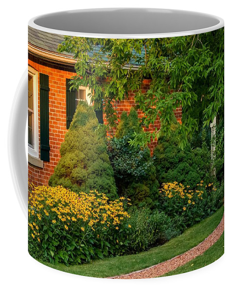 Steve Harrington Coffee Mug featuring the photograph The Garden Path by Steve Harrington