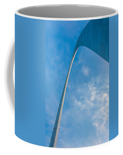 Abstract Coffee Mug featuring the photograph The Gateway Arch by Semmick Photo