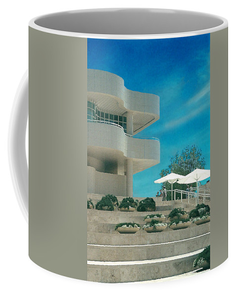 Landscape Coffee Mug featuring the photograph The Getty Panel 1 by Steve Karol