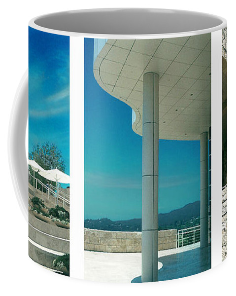 Abstract Coffee Mug featuring the photograph The Getty Triptych by Steve Karol