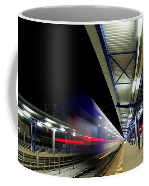 Train Coffee Mug featuring the photograph The Ghost Train by Amalia Suruceanu