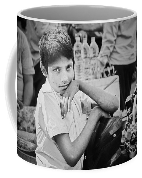 Valerie Rosen Coffee Mug featuring the photograph The Glow In His Eyes by Valerie Rosen