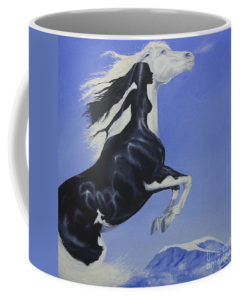 Paint Coffee Mug featuring the painting The Goddess Within by Louise Green