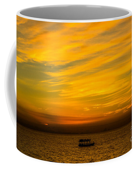 Sailing Coffee Mug featuring the photograph The Golden Sky That Mesmerize by Rene Triay Photography