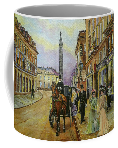 Water Colours Coffee Mug featuring the painting The Good Ole Days-an Evening Out by Andrew Read