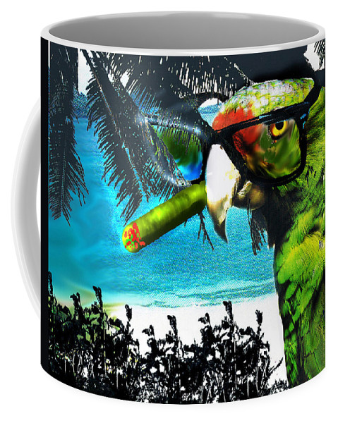 The Great Bird Of Casablanca Coffee Mug featuring the digital art The Great Bird Of Casablanca by Seth Weaver