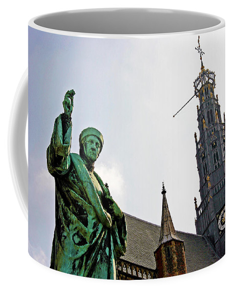 Holland Coffee Mug featuring the photograph The Great Church Of Haarlem by Evan Peller