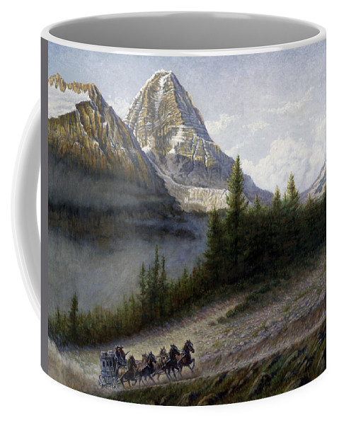 West Coffee Mug featuring the painting The Great Divide by Gregory Perillo