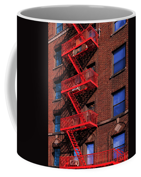 Fire Escape Coffee Mug featuring the photograph The Great Escape by Paul Wear