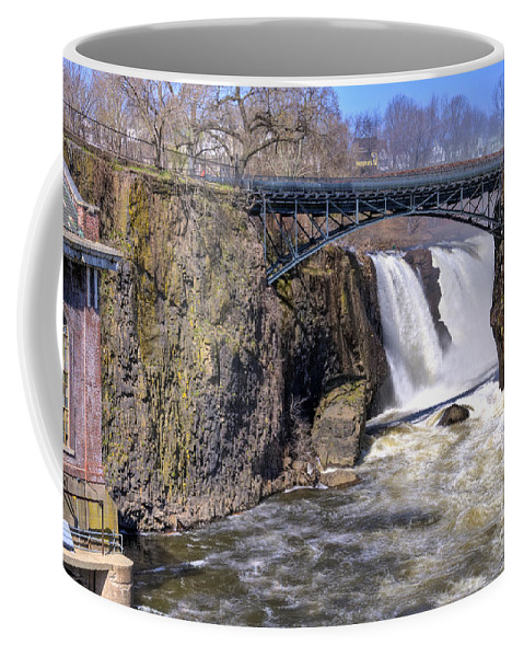 Great Falls Paterson Coffee Mug featuring the photograph The Great Falls by Anthony Sacco