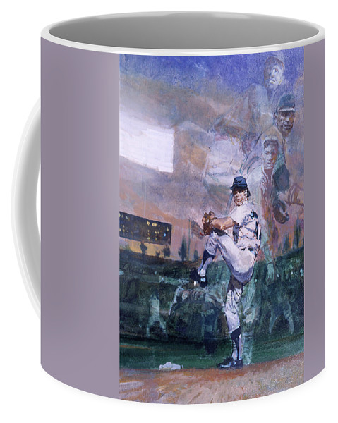 Color Image Coffee Mug featuring the photograph The Great Pitchers Best Hurlers Face by Stanley Meltzoff / Silverfish Press