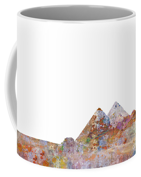 Egypt Coffee Mug featuring the digital art The Great Pyramids Colorsplash by MGL Meiklejohn Graphics Licensing