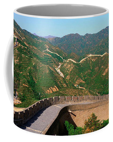 Photography Coffee Mug featuring the photograph The Great Wall At Badaling In Beijing by Panoramic Images