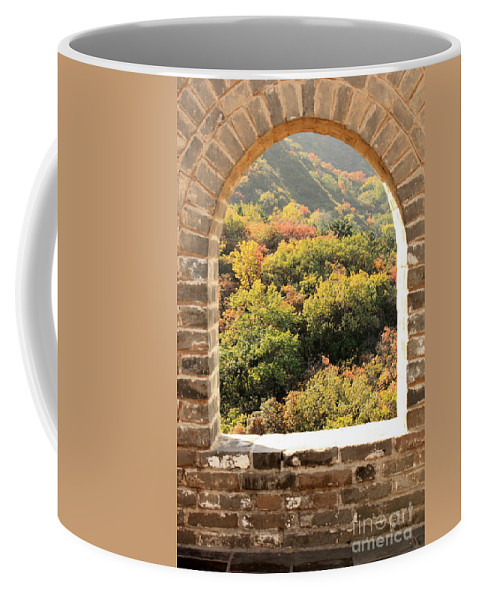 The Great Wall Of China Coffee Mug featuring the photograph The Great Wall Window by Carol Groenen
