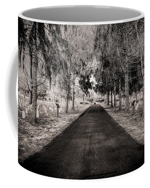 Stones River National Cemetery Coffee Mug featuring the photograph The Green Mile by Brett Engle