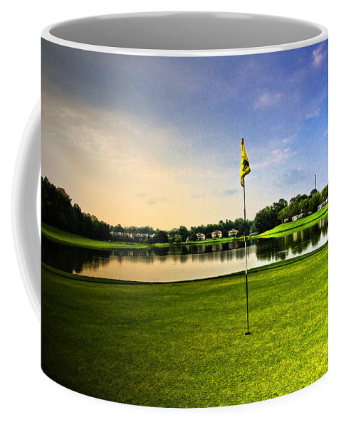 Golf Course Coffee Mug featuring the photograph The Green by Scott Pellegrin