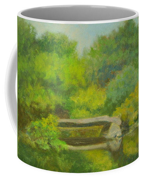 Landscape Coffee Mug featuring the painting The Greens of Summer by Phyllis Tarlow